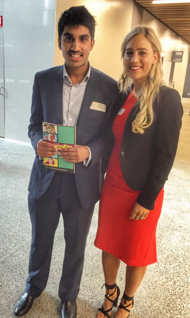 Zeryab Cheema and Liz Jackson at Rare Birds Brilliant Business Kids Conference