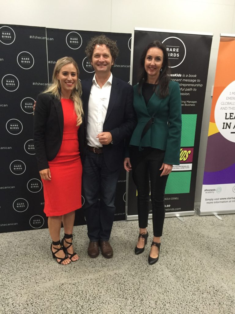Liz Jackson, Richard Seymour & Jo Burston at Rare Birds' Brilliant Business Kids Conference