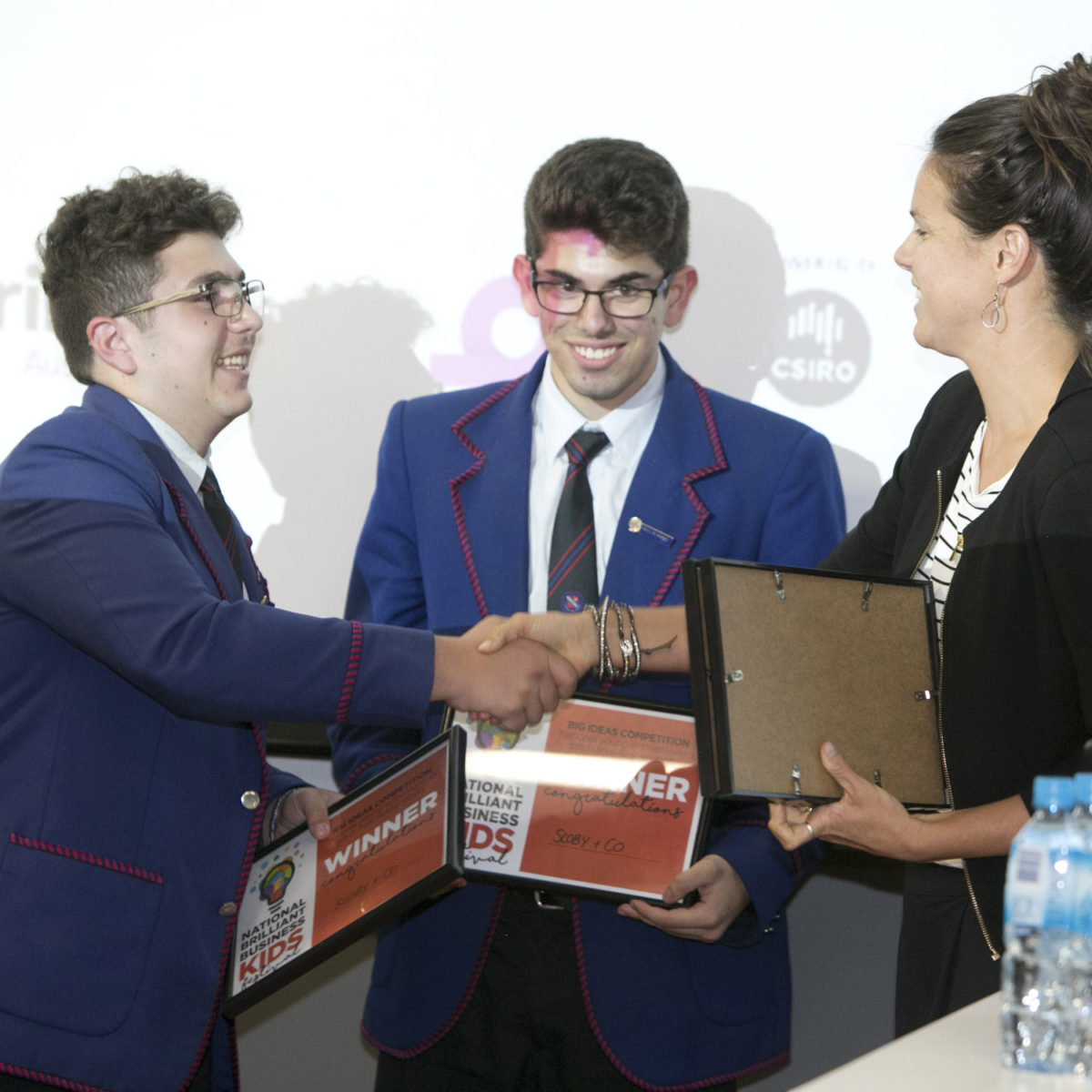 Marcellin College students receive their certificates
